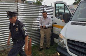 Moreno Grajales en una de sus llegadas al Tribunal Superior. Foto: José Vásquez.