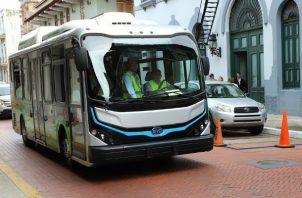 El bus eléctrico ha movilizado a  70 mil pasajeros. Foto/ Cortesía