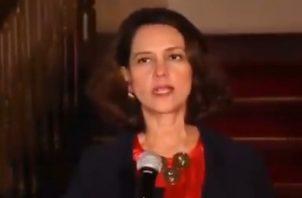 Ministra del Interior de Colombia  Nancy Patricia Gutiérrez.