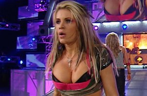 Ashley Massaro en un evento de la  WWE.