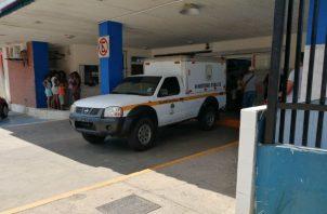 Policlínica de CSS en Arraiján, donde determinaron la muerte del cazador. Foto: Eric A. Montenegro.
