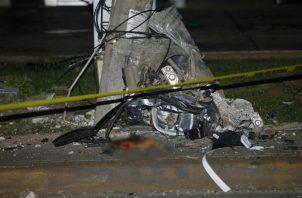El accidente de tránsito  ocurrió a eso de las 11:30 de la noche de este jueves en la vía Domingo Díaz.