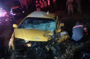 La víctima operaba el taxi con matricula 8T22026. Foto: Eric A. Montenegro.
