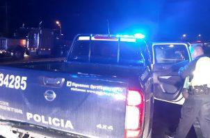 Al lugar se presentaron unidades de Operaciones del Tránsito de la Policía Nacional . Foto: Melquíades Vásquez A.