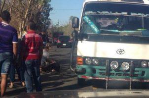 La mujer era pareja del conductor del autobús. Foto/José Vásquez