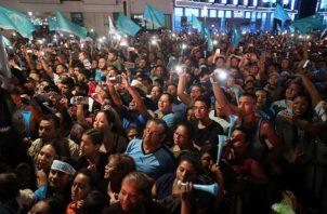 Con la votación del pasado domingo, quedó claro que la población se cansó del bipartidismo existente en el país. FOTO/EFE