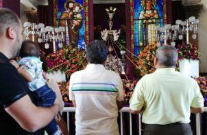 Rinden honores a Jesúa Nazareno de Atalaya. Foto/Miriam Lasso