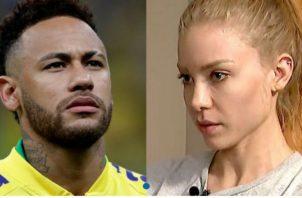Neymar y la modelo Najila