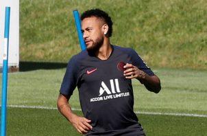 Neymar no ha jugado durante la presente temporada con el PSG. Foto EFE