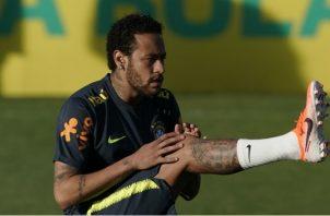 Neymar se prepara para la Copa América con su selección. Foto AP