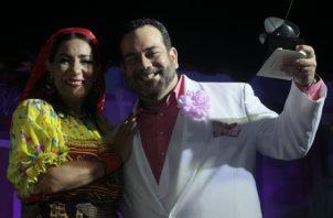 """Neysa Ferguson y Agustín Clément. Gala de los Premios Escena,  """"Que arranque el rock"""" ganó seis estatuillas, entre ellas a Mejor Director, Mejor  Obra y Mejor Musical del 2018. Víctor Arosemena."""