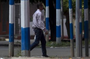 """El presidente Daniel Ortega ha tomado distancia de la responsabilidad y alega que lucha contra un intento de """"golpe de Estado"""".  FOTO/EFE"""