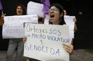 La protesta se da en medio de una crisis sociopolítica. Foto: EFE.