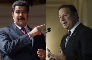 Nicolás Maduro y Juan Carlos Varela.