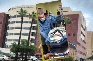 Miguel Ignacio Muñoz Lima está internado en la sucursal médica de la Universidad de Texas, en Galveston.  Foto de cortesía