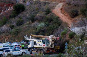 El pequeño Julen Roselló cayó el jueves al pozo en la pequeña población de Totalán