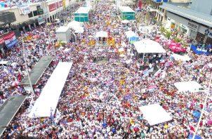 Arranca cierre de campaña del candidato presidencial del PRD Laurentino 'Nito' Cortizo. Foto: PRD.