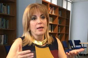 Nivia Rossana Castrellón, presidenta de la Junta Nacional de Escrutinio (JNE) 2019. Foto de Juan Carlos Lamboglia