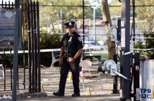 El comisionado de la policía dijo que entre 2,000 y 3,000 personas asistieron al evento organizado al lado de un parque de niños, y que la zona estaba resguardada por unos 100 policías. FOTO/AP