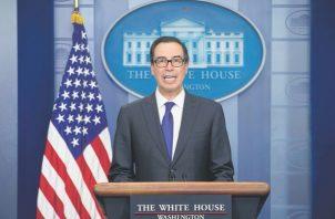 Steven Mnuchin, secretario del Tesoro de los Estados Unidos. Foto: EFE.