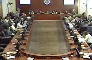 Panamá y Perú se abstuvieron durante la votación para poner en marcha  Tratado Interamericano de Asistencia Recíproca. Foto/Twitter OEA