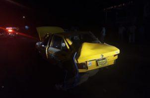 A la altura de la plaza comercial Xtra, se dio otro accidente de tránsito, resultando lesionado el conductor de un taxi. Foto/Eric Montenegro
