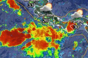 Se esperan horas de lluvias en el país. Foto: Servir.net