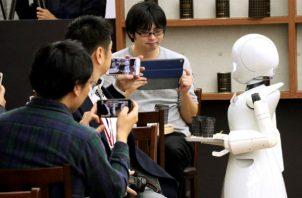 OriHime-D, el robot camarero. Foto/EFE