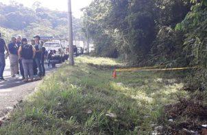 El Ministerio Público realizó el levantamiento del cadáver la mañana de este viernes. Foto: Crítica.