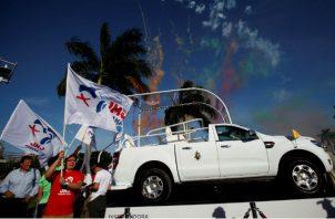 Francisco viajará en papa móvil desde el Hospital San Fernando hasta la Policía Nacional de Ancon.