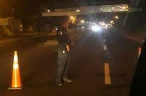 La víctima de 28 años fue arrollada en Bejuco,  provincia de Panamá Oeste. @TraficoCPanama
