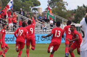 Eric Pinto (9) celebra su gol. Foto Fepafut