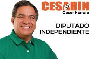 La detención provisional del candidato Cesar Herrera, se realizó el jueves en su residencia, luego que el Tribunal Electoral aceptara levantarle el fuero electoral.