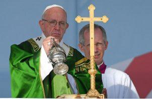 Papa Francisco durante misa de envío en el Campo Santo Juan Pablo II.