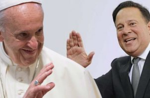 Papa Francisco y el presidente Juan Carlos Varela. Foto: Info Epasa