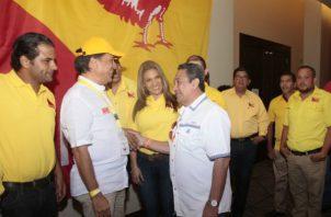 """El presidente de Molirena, """"Pancho"""" Alemán, y """"Toto"""" Álvarez (del partido en formación PAIS) confirmaron el apoyo mutuo. Víctor Arosemena"""