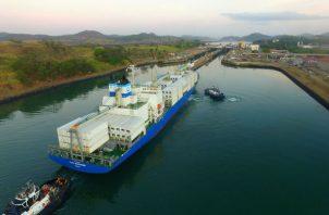 El tráfico en el Canal de Panamá se ha mantenido constante. Foto: Cortesía