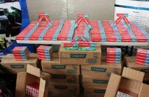 El Minsa ha decomisado pastas dentales falsificadas que contenían dietilenglicol. Foto cortesía