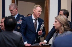 El secretario interino de Defensa, Patrick Shanahan, se presentó ante el Comité de Servicios Armados de la Cámara de Representantes, para revisar el presupuesto. FOTO/AP