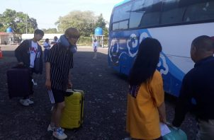 Se pudo conocer por parte de las autoridades en la provincia de Chiriquí que el numero de entradas a Panamá por la frontera de Paso Canoas en Chiriquí fue de 26 mil 263 peregrinos quienes ingresaron en buses y carros particulares. Foto/Mayra Madrid