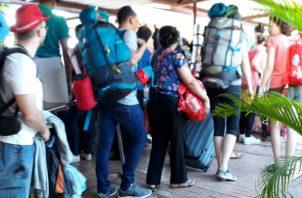 Los peregrinos se alojaron en casas de familias locales. Foto: Thays Domínguez.