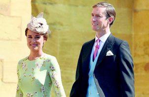Pippa Middleton, se convirtió en madre de un niño nacido al año y medio de casarse con James Matthews.