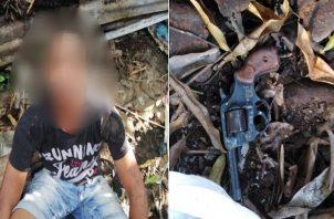 Capturan a supuesto asesino de seguridad durante robo de Banco General de Campo Limberg. Foto: Policía Nacional.