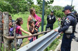 La Guardia Nacional mexicana tratará de frenar el flujo de migrantes centroamericanos. Foto: EFE.