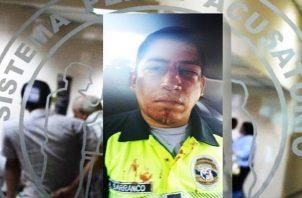 """La unidad policial fue agredida por un conductor de un bus """"pirata""""."""