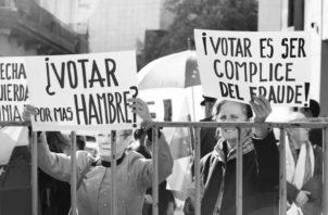 Los ciudadanos han perdido el interés colectivo. Otra factor que influye es el creciente descrédito de los partidos políticos. Foto: Archivo.