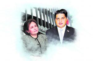 La procuradora no ha dicho nada del proceso contra el secretario del expresidente Juan Carlos Varela. Ilustración de Epasa