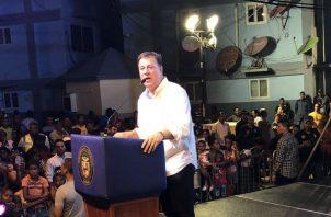El presidente Juan Carlos Varela.