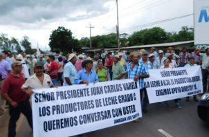 Los productores en Chiriquí apoyarán la marcha. Foto/Archivo