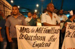 Los transportistas de Panamá Este salieron hoy a protestar en la Carretera Panamericana, altura del Supermercado Xtra en el corregimiento 24 de Diciembre.